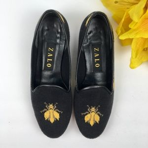 """ANTHROPOLOGIE Black """"Buzzy Loafers"""" Size 6.5"""
